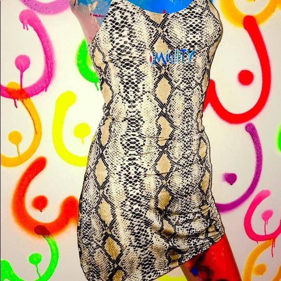 54776a3bbbad41 O-Mighty Python Skinny Dress